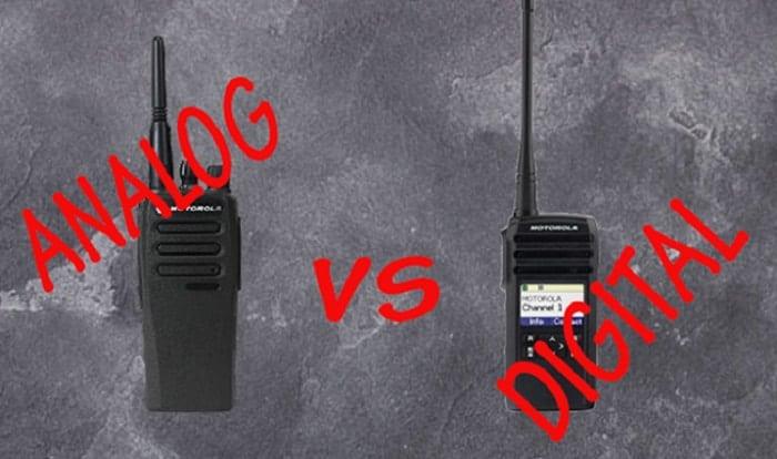 analog vs digital two way radios